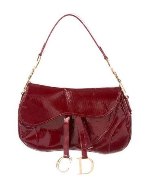 Dior - Metallic Diorissimo Saddle Bag Gold - Lyst ... cbbb1ed5d0114