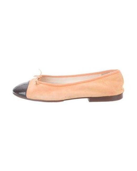 8f52116cab4 Chanel - Multicolor Suede Cap-toe Flats Orange - Lyst ...