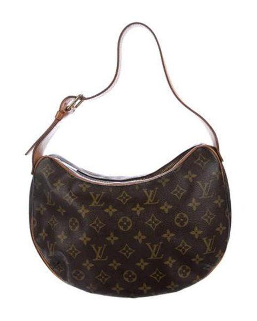 c4945045b540 Louis Vuitton - Natural Monogram Croissant Mm Brown - Lyst ...