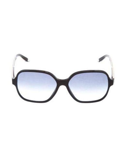 0bdebbb975f Victoria Beckham - Black Oversize Gradient Sunglasses - Lyst ...