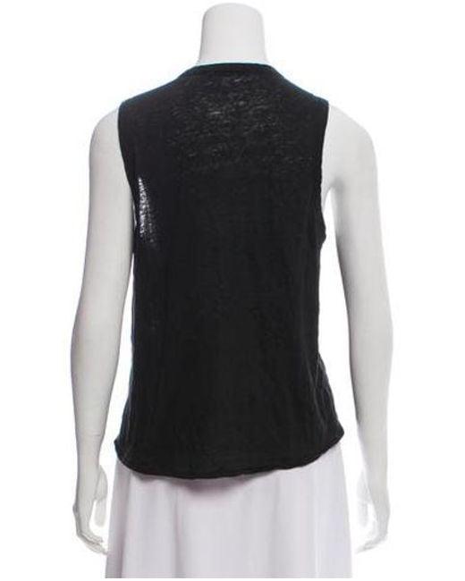 f4e1b71458578b ... Rag   Bone - Black Sleeveless Linen Top - Lyst