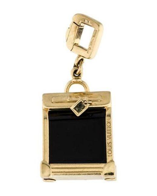 Louis Vuitton - Metallic 18k Onyx Suitcase Charm Yellow - Lyst