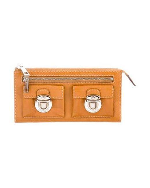 0a0d93ed41c Marc Jacobs - Metallic Leather Zip Wallet Orange - Lyst ...