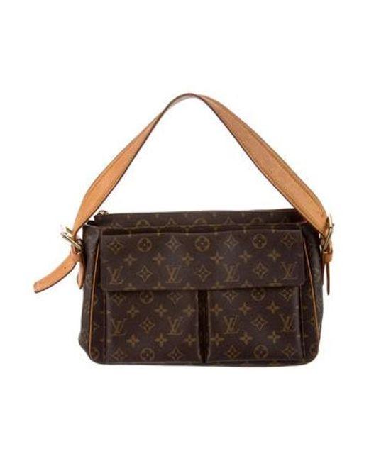 a9664c0ec847 Louis Vuitton - Natural Monogram Viva Cité Gm Brown - Lyst ...