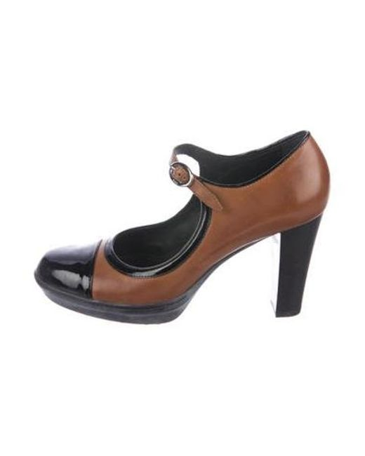 1e6df80cf8b6 Tod s - Brown Leather Mary Jane Pumps - Lyst ...