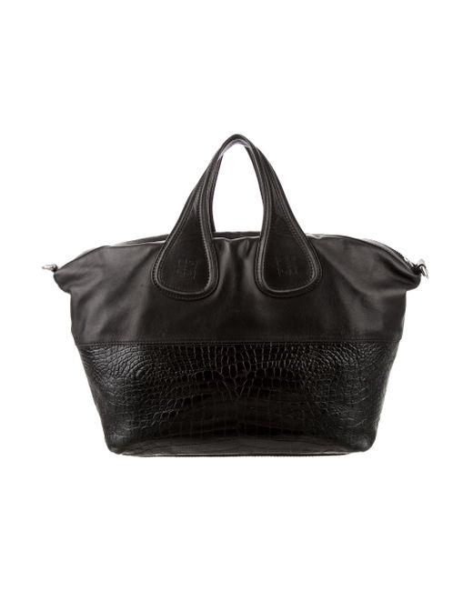... Givenchy - Metallic Medium Nightingale Bag Black - Lyst ... 698198b42371e
