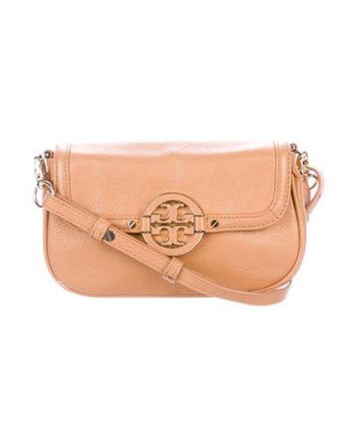 9497a7162166 Tory Burch - Metallic Amanda Crossbody Bag Tan - Lyst ...
