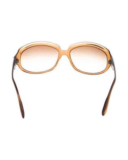 53ac33af0a6d ... Oliver Peoples - Brown La Donna Gradient Sunglasses - Lyst ...