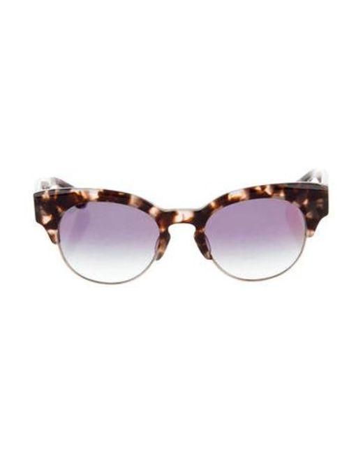 746251c2a4e Dita - Metallic Liberty Mirrored Sunglasses Brown - Lyst ...
