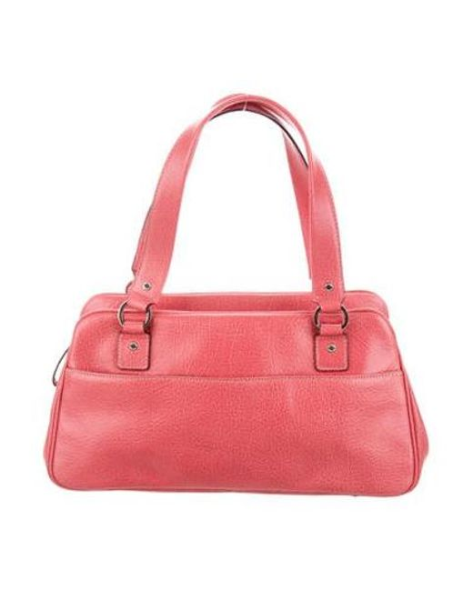 Kate Spade - Metallic Grained Leather Shoulder Bag Pink - Lyst ... b614ab1b3d044