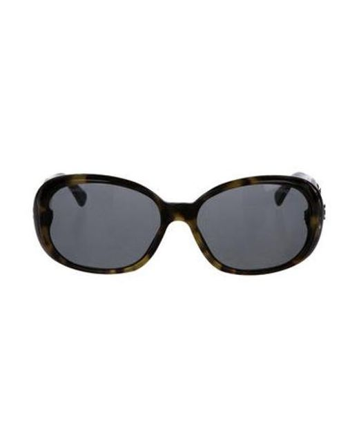 c09f463a6b3 Chanel - Black Camellia Cc Sunglasses - Lyst ...