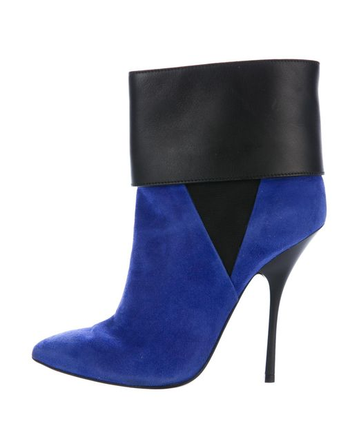 best place Giuseppe Zanotti Suede Bicolor Booties 100% authentic sale online clearance wiki discount 100% original ISGGmv4H