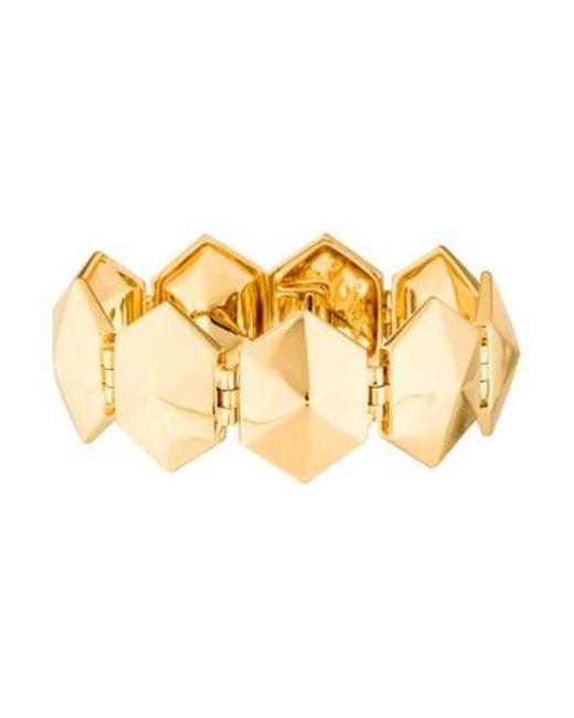 Rachel Zoe - Metallic Hexagon Link Bracelet Gold - Lyst
