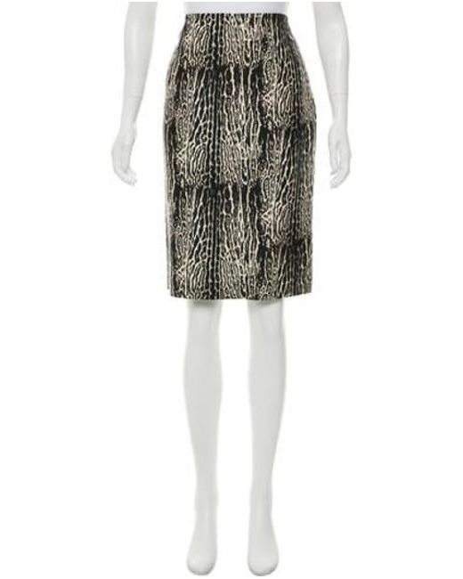 bad826a875 Giambattista Valli - Brown Animal-print Knee-length Skirt - Lyst ...