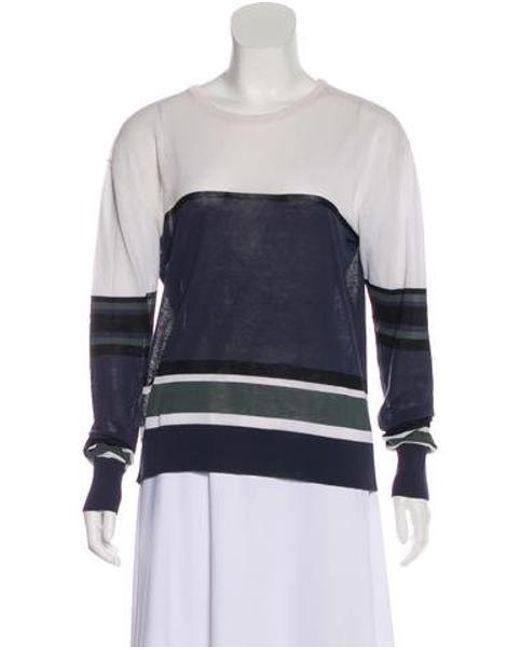 Multicolor A Semi Blue l Lyst Sheer Knit Sweater c qqv4HWZ0