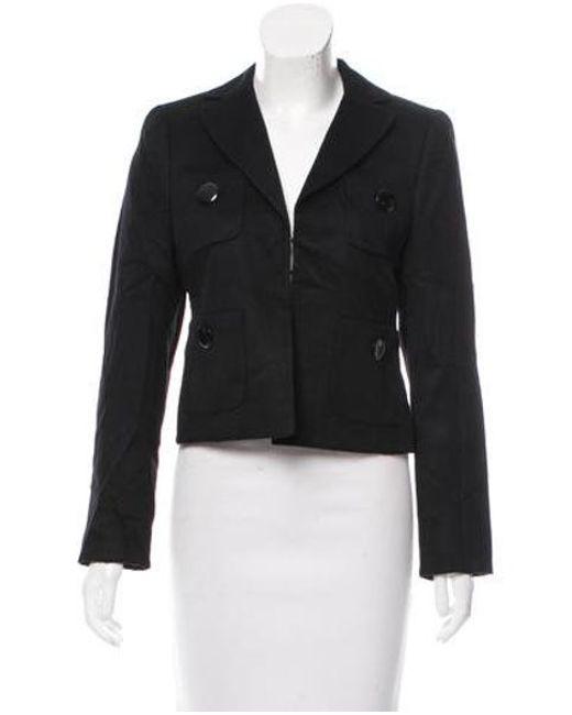 Akris - Black Structured Cashmere Jacket - Lyst