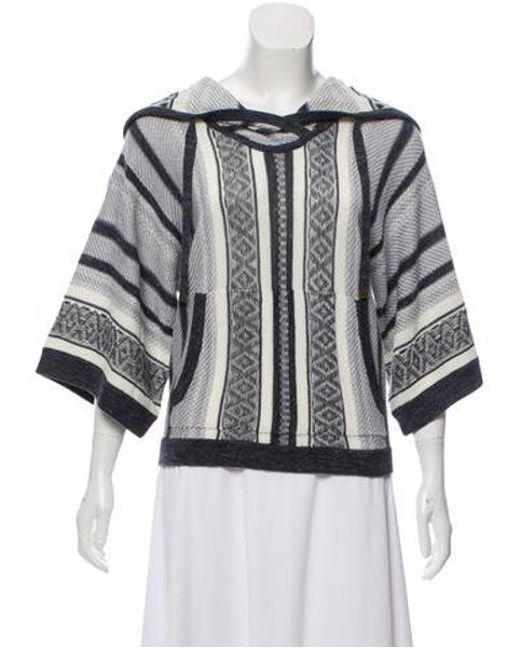 Veronica Beard - Blue Rancho Hooded Sweater - Lyst