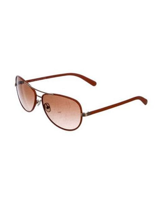b5326fddf714 ... Tory Burch - Brown Gradient Aviator Sunglasses Orange - Lyst ...