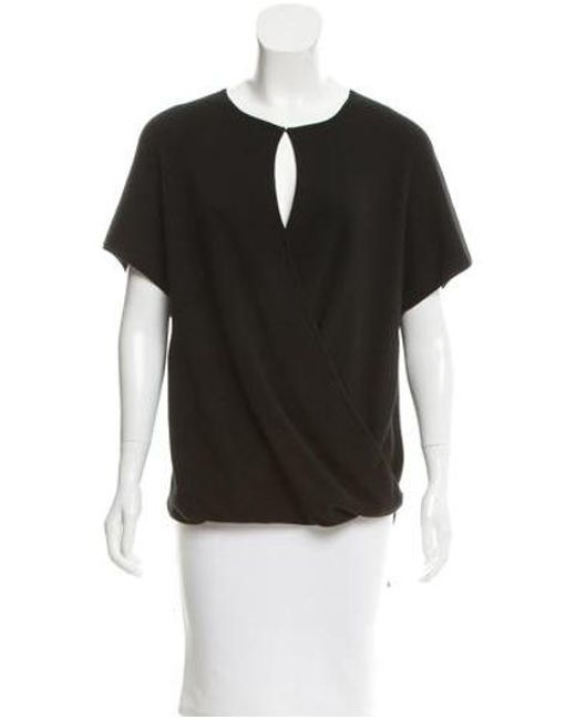 Derek Lam - Black Cashmere & Silk-blend Top - Lyst