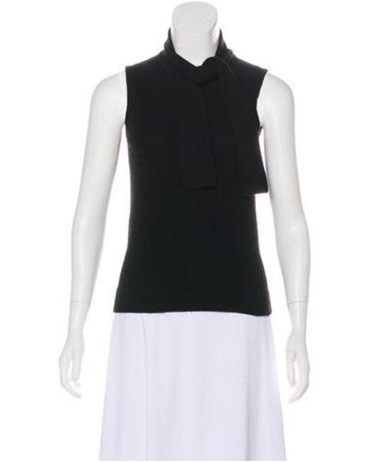 2492da316ec79 Clements Ribeiro - Black Sleeveless Cashmere Sweater - Lyst ...