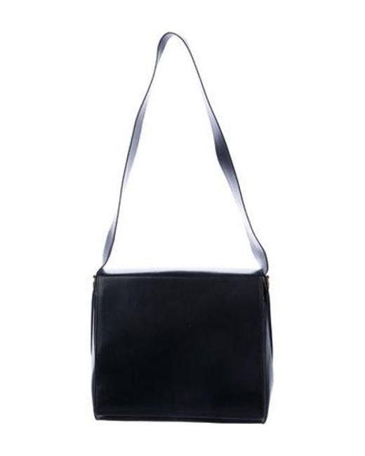 Ferragamo - Metallic Leather Shoulder Bag Black - Lyst ... 2cf1617f0a8ce