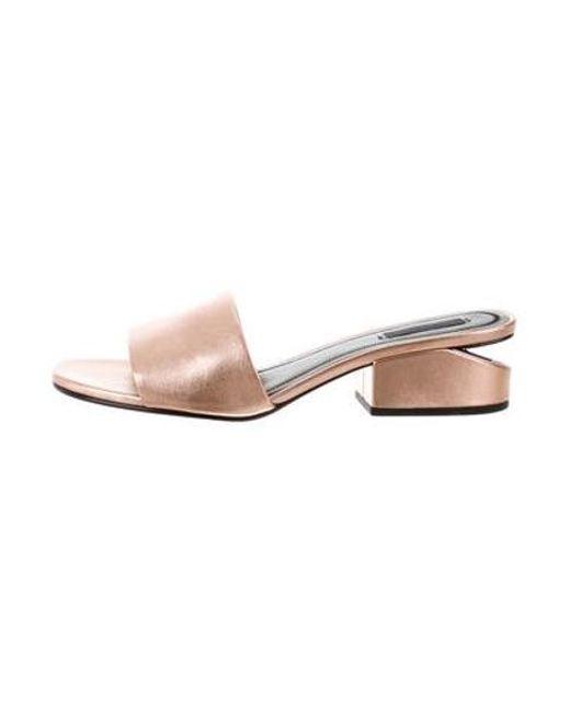 67151ad5543 Alexander Wang - Metallic 2017 Lou Slide Sandals Bronze - Lyst ...