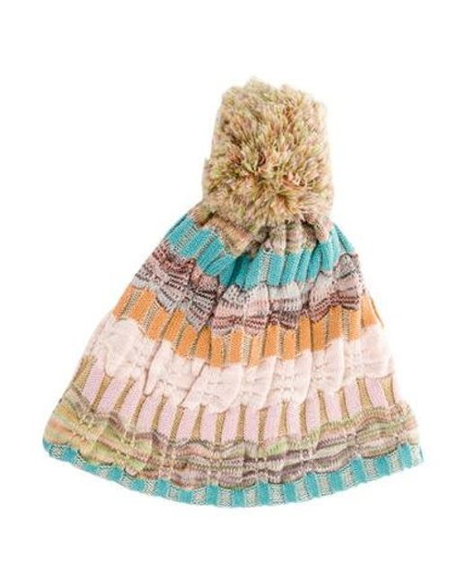 151a3eb0516 Missoni - Rib Knit Beanie Multicolor - Lyst ...
