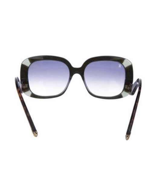 4f83b853c8c0 ... Louis Vuitton - Metallic Anemone Square Sunglasses Blue - Lyst ...