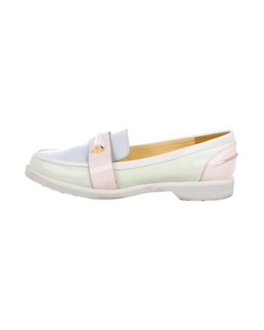 e290619597d2 Tory Burch - White Colorblock Round-toe Loafers - Lyst ...