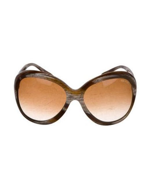 eedc25bdb0b9 Tom Ford - Brown Marissa Oversize Sunglasses - Lyst ...