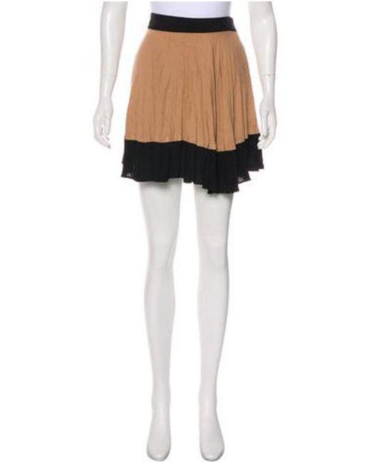 2ed9a7d45 A.L.C. - Natural Pleated Mini Skirt Tan - Lyst ...