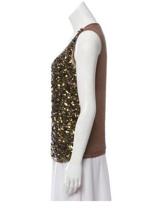 50293ca7e626 ... MICHAEL Michael Kors - Metallic Michael Kors Embellished Top Gold -  Lyst ...