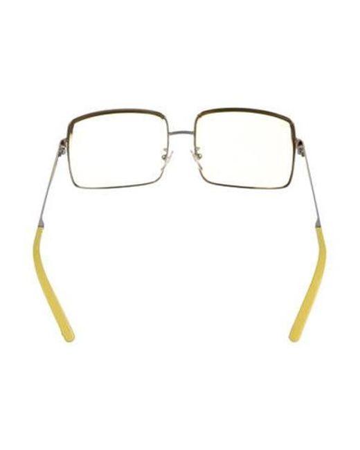 799291cfd9ef9 ... Louis Vuitton - Metallic Jane Square Sunglasses Silver - Lyst ...