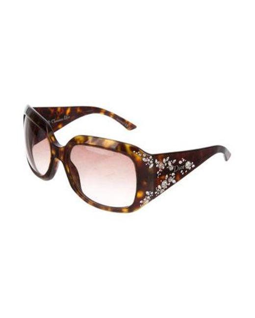 0fc046dcd3c6 ... Dior - Metallic Diorondine Embellished Sunglasses Silver - Lyst ...