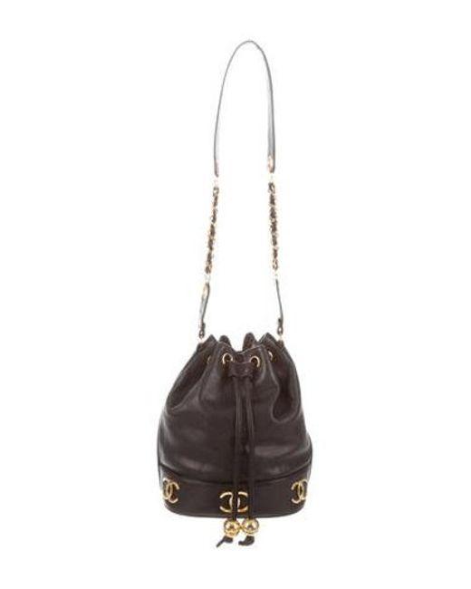 Chanel - Metallic Vintage Cc Bucket Bag Black - Lyst ... ef8898df3621f
