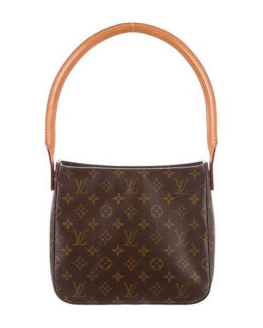 4aa9ae51106b Louis Vuitton - Natural Monogram Looping Mm Brown - Lyst ...