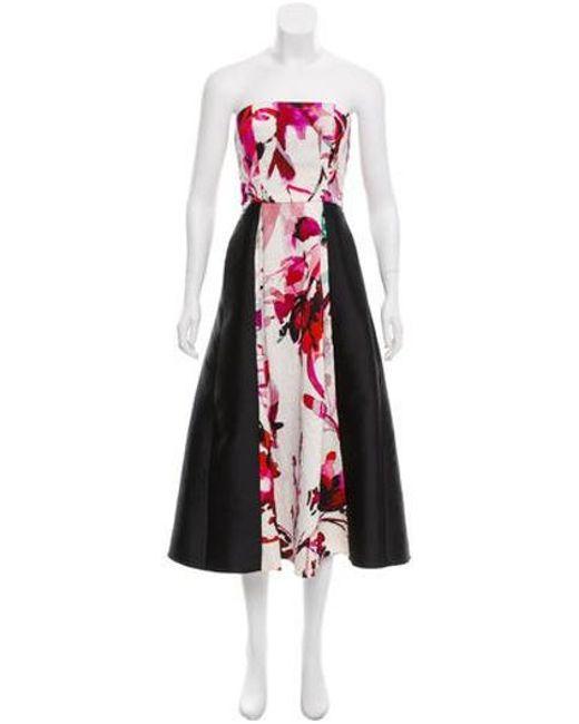 Sachin & Babi - White Noir Strapless Midi Dress - Lyst