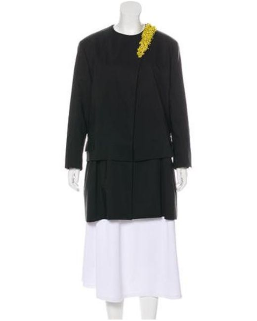 Dior - Black Embellished Layered Coat W/ Tags - Lyst