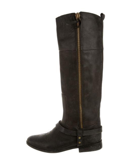 Golden Goose Deluxe Brand - Metallic Distressed Sante Fe Boots Black - Lyst