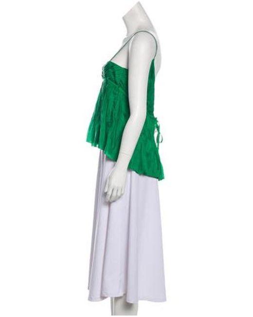 173bafb4f4aff ... Diane von Furstenberg - Natural Fontana Silk Top Green - Lyst ...