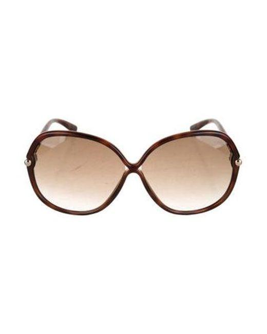 72e01e3437 Tom Ford - Brown Islay Round Sunglasses - Lyst ...