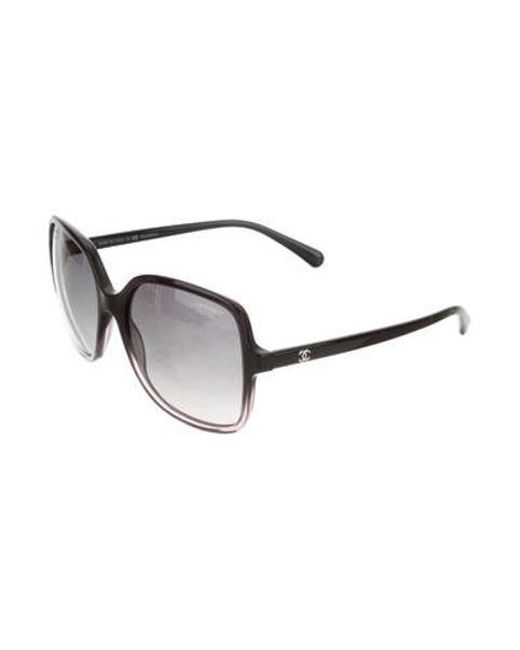 6b937a4caad4 ... Chanel - Metallic Square Summer Sunglasses Black - Lyst ...