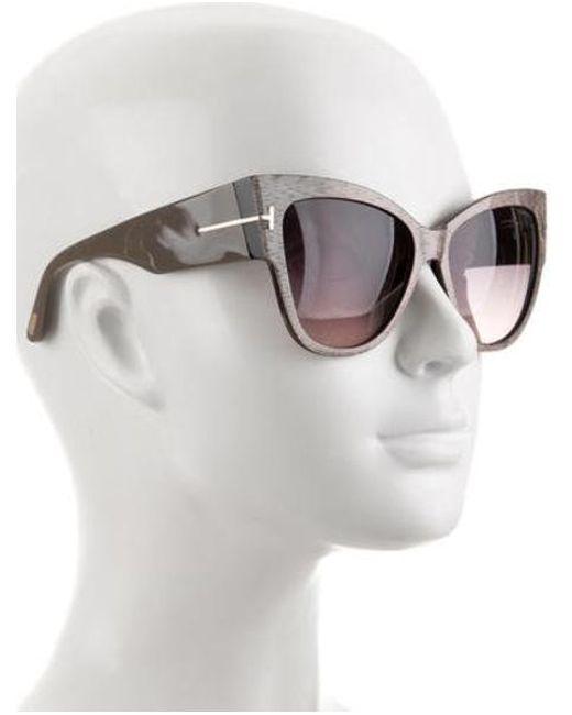 ee45a23328a2 ... Tom Ford - Metallic Anoushka Cat-eye Sunglasses Gold - Lyst