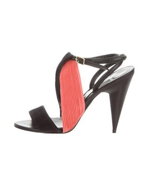 7d5ca2b2af3 Pierre Hardy - Black Bi-color Pleated Sandals - Lyst ...