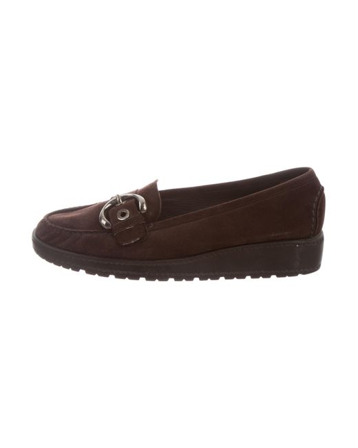 Stuart Weitzman Suede Round-Toe Loafers pre order for sale discount fake discount codes really cheap outlet choice discount get authentic KiSOB