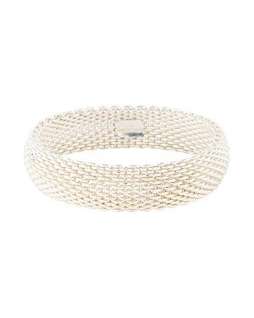 Tiffany Co Metallic Somerset Bracelet Silver