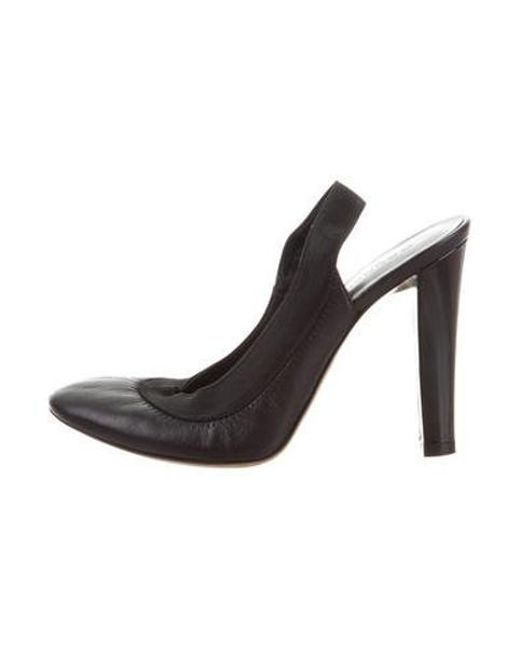 Lyst Donna Karan Pelle Round toe Pumps in in Pumps Nero 4912a8