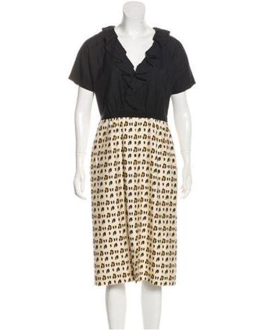 f5da9038ee Giambattista Valli - Black Silk Animal Print Dress - Lyst ...