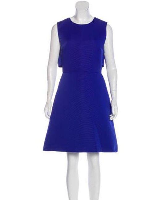 a7a0b8d74e80d Kate Spade - Blue Sleeveless Knee-length Dress - Lyst ...