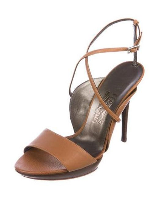 72788b979c32 ... Ferragamo - Natural Gilina Leather Sandals W  Tags Tan - Lyst ...
